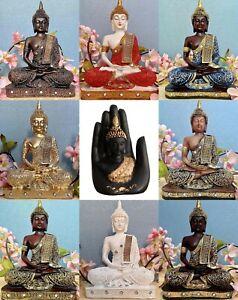 Global Grabbers Sitting Buddha Idol Statue Showpiece (Antique Copper Matte)