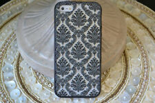 NEW Damask Rubber Hard Case iPhone 4 4S + Screen Protector Front & Ba