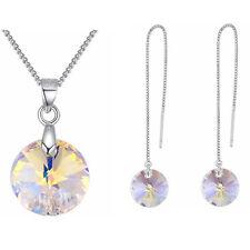 Grande REGALO COLLANA ORECCHINI gioielli Set Crystal da SWAROVSKI ORECCHINI LUNGHI