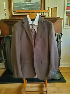 BANANA REPUBLIC x REDA 1865 Italian Super 110's fabric brown 38 40 42