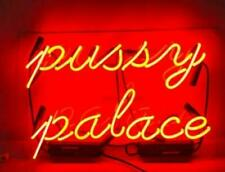 "Pussy Palace Neon Lamp Sign 14""x10"" Acrylic Bright Lighting Bar Artwork Pub"