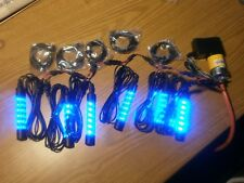 "B05BB6CH 5VDC Blue LED Accent Lighting Kit w/ 6 x 4"" LED Tubes & 39"" Extensions"