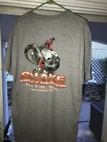 HARLEY DAVIDSON SNAKE TWIN FALLS IDAHO Graphic T Shirt Heather Gray Xl Tall Tee