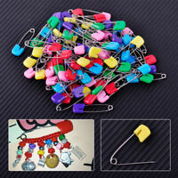 50x Head Safety Pins Locking Hold Clip Baby Dress Cloth Nappy Diaper Craft Pins
