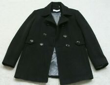 Wool Jacket Coat Six 6 Women's Lined Solid Calvin Klein Charcoal Gray Winter