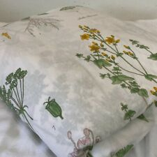 IKEA Strandkrypa Botanical Floral Duvet Cover Full/Queen Size 82x84 Cotton Snaps