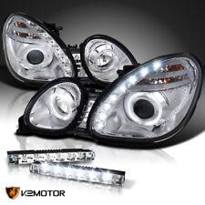 For Chrome 98-00 Lexus GS300/400 Halo SMD Projector Headlight+LED Fog Lamp