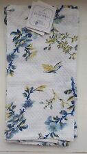April Cornell Dishcloth Set/2 Blue White and Yellow NWT 100% Cotton