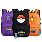 Pokemon Go Backpack Pikachu, Gengar, Squirtle, Moltres,Charmander  School Bag