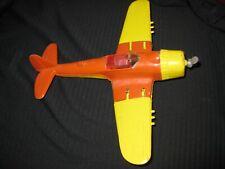 HUBLEY Kiddie Toy Plane WWII Fighter Vintage Original Orange Yellow USA