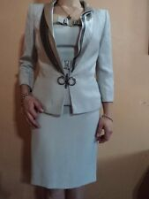 Ivan Montesi - vintage dress and blazer, gray silver