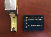 Tongues of Flame Kalman Levitan Poems Signed Miniature Book Kaycee, Ward Schori