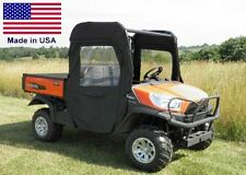 Doors and Rear Window for Kubota RTV X1120D - Zip-Down Windows - Commercial Duty