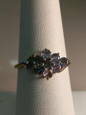 10KT Solid Yellow Gold Tanzanite & Diamond Ladies Ring size 7.5 3150-1