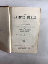 "Livre ""La sainte Bible"""