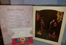 Disney 1997 Convention Spellbook VILLAINS Christmas Ornament Set Limited edition