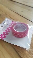 "Queen & Co Washi Trendy Tape! ""Polka Dot Pink"" 10 yards each roll!"