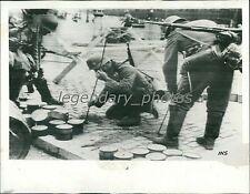 1940 World War II Germans Remove Mines from Street Original News Service Photo