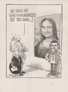 Cartoon By Geoffrey Raynor Hook ''He Say's He Was Influenced By Da Vinci…!'