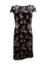 Calvin Klein Women's Sequin-Embellished Velvet Sheath Dress