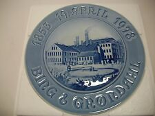 "Bing And Grondahl Plate 1978 125 Anniversary. Of Factory 9""Dia."