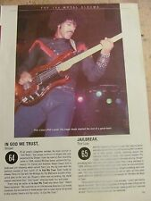 Thin Lizzy, Phil Lynott, Full Page Vintage Clipping
