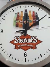 Cola Advertising Wall Clock Stewarts Fountain Classic Promotional Signs IN-BOXED
