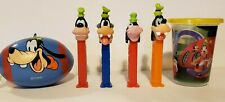 Lot of Disney Goofy Pez Dispensers, Ball, and Cup