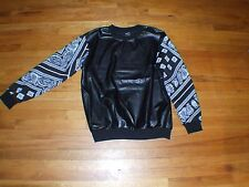 Leather Tee W/ Bandanna Print L/S Sz XL - KITH Supreme END ADYN Fear Of God APC