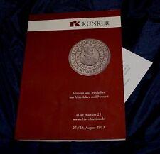 Kunker 2013 catalogo asta numismatica monete medaglie mondiali Osnabruck