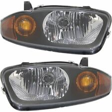 Halogen Headlight Set For 2003-2005 Chevy Cavalier Left & Right w/ Bulb(s) Pair