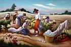 Cotton Pickers Painting by Thomas Hart Benton Reproduction