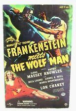 "Sideshow 12"" Frankenstein Meets Wolf Man 4410 Monsters Figure Lon Chaney Wolfman"