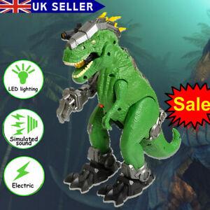 Kids Electric Walking Dinosaur Figure Sound Breathing Smart Dragon Toy Large