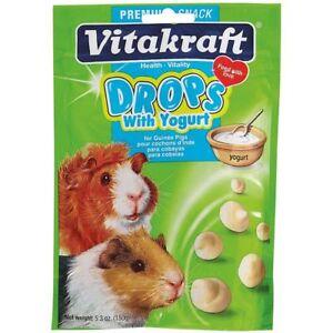 Vitakraft YOGURT DROPS for Guinea Pigs Pouch 5.3 oz
