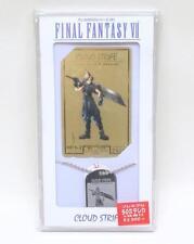 Final Fantasy VII 7 Gold Phone Card Cloud Strife Dog Tag Limited Japan FFVII NEW
