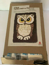 "New Latch Hook Rug Kit Columbia-Minerva Erica'S Owl 27"" x 38"" Erica Wilson"