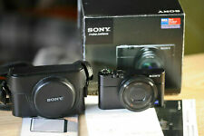 Sony Cyber-shot DSC-RX100 Digital Camera - AS NEW+ LATHER CASE+2 SCREEN COVERS!$
