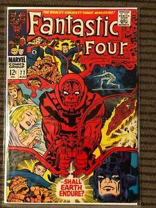 Fantastic Four #77 HIGH GRADE Beautiful Copy - Psycho Man!!!