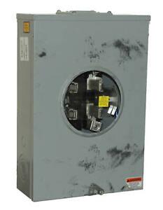 Eaton UT-E4213Z-CH Meter Socket 1/pkg 200A 600V Single Phase Four-Jaw Commercial