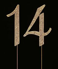 Numbrer 14 for 14th Birthday or Anniversary Cake Topper Party Decoration Supp...