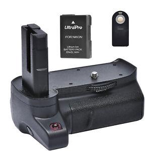 Battery Grip for Nikon D3400 + EN-EL14a Replacement Battery + Remote