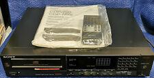 Sony CDP-750 CD-Player mit Fernbedienung und Bedienungsanleitung TDA1541A 16 bit