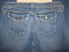 MMM Couture Boot Cut Flap Pocket Stretch Jeans Womens Juniors size 27 X 33