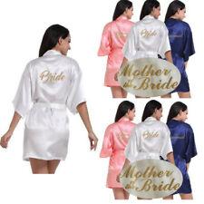 Women Wedding Robe Satin/silk robe Bridesmaid Bride maid of honor Dressing Gown