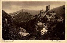 Manderscheid Rheinland Pfalz Ansichtskarte ~1930 Blick auf beide Burgen Wald