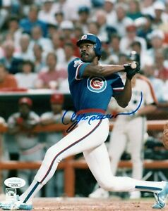 ANDRE DAWSON SINGLE SIGNED 8X10 PHOTO JSA COA AUTO AUTOGRAPH CHICAGO CUBS HOF