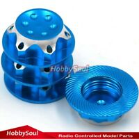 4pc RC 1/8 Alum Alloy Wheel nuts 17mm P1.0 Blue For 1:8 kyosho Mugen Xray losi