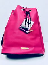 Juicy Couture Pink Faux Leather Drawstring Backpack Bag/Purse New With Tags!!!