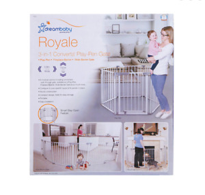 Dreambaby Royale Converta 3-in-1 Playpen Gate Portable Fence Guard Easy Install